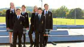 King's Academy Ringmer Eco Club members and solar panels
