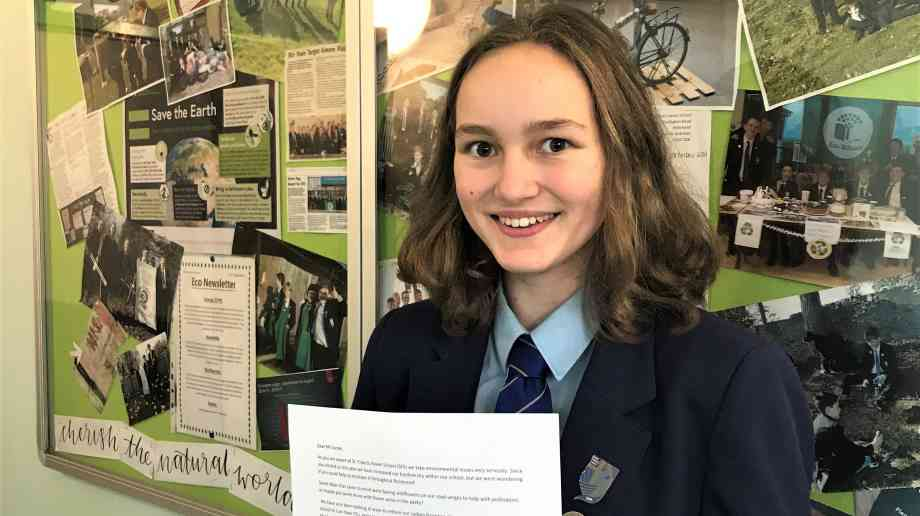 Mathilde Iveson from St Francis Xavier School in Richmond, North Yorkshire