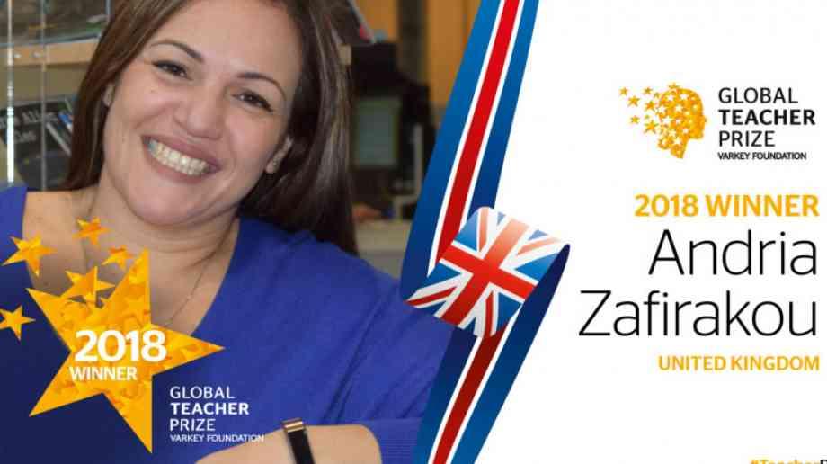 Global award goes to UK teacher